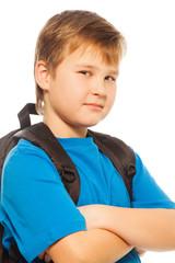 Confident schoolboy