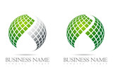 Business logo 3D green sphere design