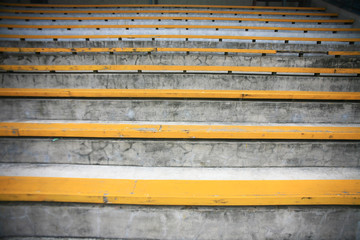 wood yellow a seat rows in stedium