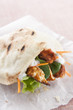 Chicken pita with lettuce and carrot