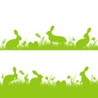 Easter Background Header Meadow Bunny Green