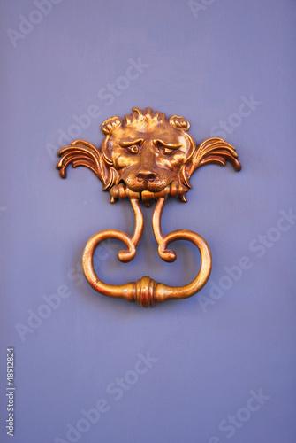 Italy, Ravenna very old door handle.