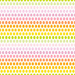 Seamless Pattern Easter Eggs Pastel Rainbow Green