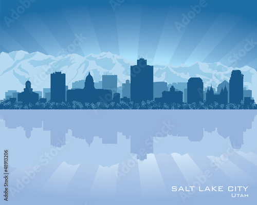 Salt Lake City, Utah skyline city silhouette