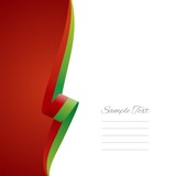 Portuguese left side brochure cover vector