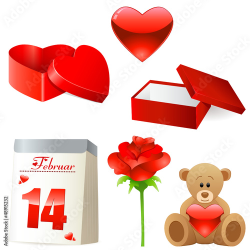 Valentinstag - Icon Set