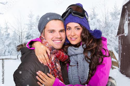 pärchen im winter