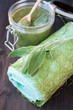 Spa care and treatment: body scrub with herbs