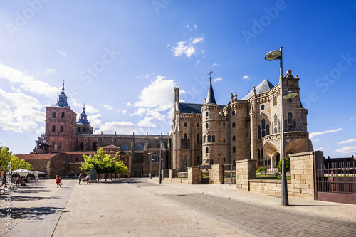 Gaudi Palace and Cathedral of Astorga, Pilgrim route to Santiago