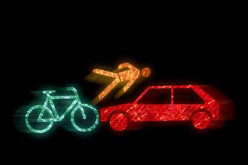 Ampel  Verkehrsunfall