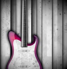 Background with guitar