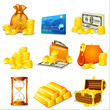 vector illustration of business and money related object