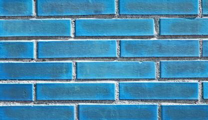 Backsteinwand blau