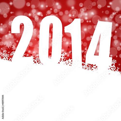 2014 new year vector illustration with snowflakes
