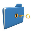Folder Golden Key
