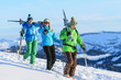 eine Gruppe Skifahrer
