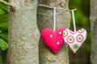 Alles Liebe, herzliche Grüße, zwei Herzen, Grußkarte