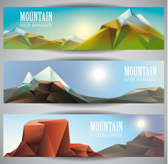 Mountains web banners