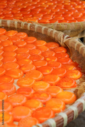 Salted and sun dried yolks of duck eggs