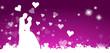 Hintergrund Herzen Brautpaar