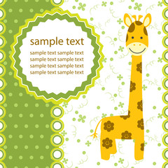vector background with giraffe