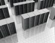 Datacenter: server room with server clusters.