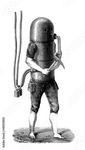 Scaphandrier - Diving Suit Project - Taucheranzug - end 18th