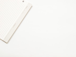 Stack of blank paper sheets on white background