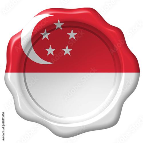 Wachssiegel Singapur