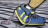 Fototapete Bequeme - Schuh - Graffiti