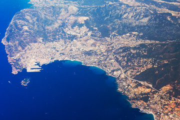 Luftaufnahme Cote d'Azur