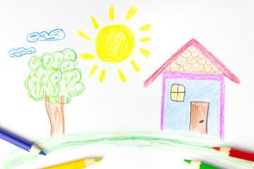 Eigenheim Kinderzeichnung