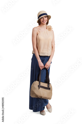 Beautiful stylish woman with a bag