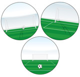 Set of Football Illustrations. Free Kick, Penalty etc