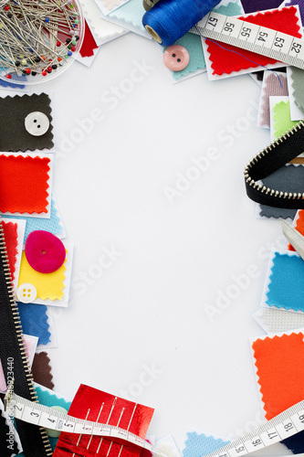 Design, fashion - A fabric samples  over white background