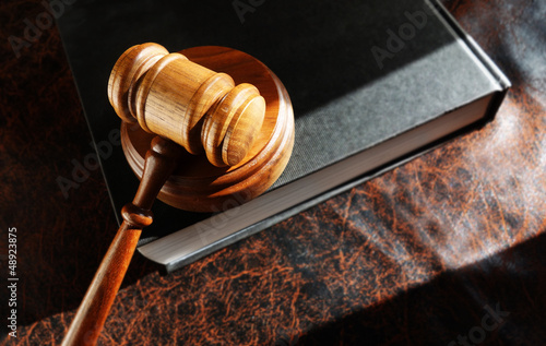 gavel and lawbook