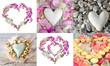 Valentinstag: Collage aus verschiedenen Herzen