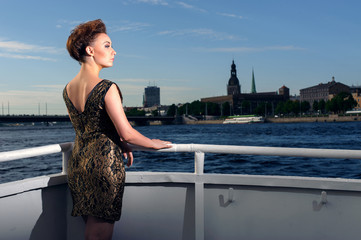 Woman on the yacht, Riga