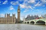 London. Beautiful view of Westminster Bridge and Houses of Parli