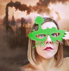 Anti-pollution girl