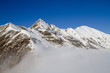 panorama sulle alpi in inverno