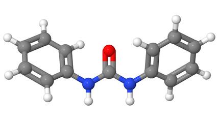 Plant hormone - Cytokinins - Diphenylurea  - molecular model