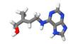 Plant hormone - Cytokinins - Zeatin - sticks molecular model