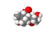 Plant hormone - Gibberellin - A1 - spacefill molecular model