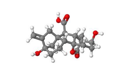 Plant hormone - Gibberellin - A1 - sticks molecular model