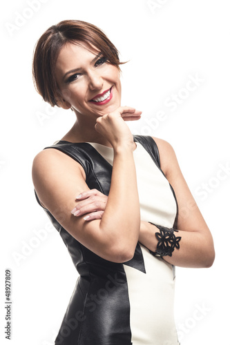 Elegante freundliche Geschäftsfrau