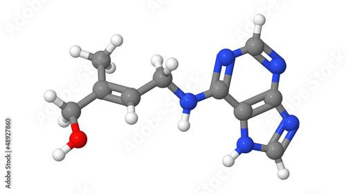 Plant hormone - Cytokinins - Zeatin - molecular model