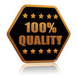100 percentages quality five star hexagon button