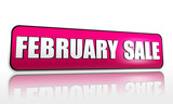 february sale purple banner