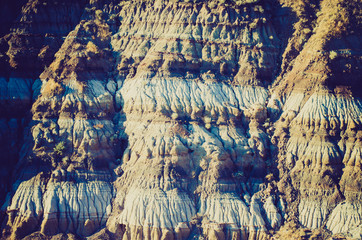 Badland hills at sunset - Drumheller Alberta - LOMO